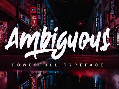 Ambiguous covid19 web app bold animation logo branding newfont typography design handmade font