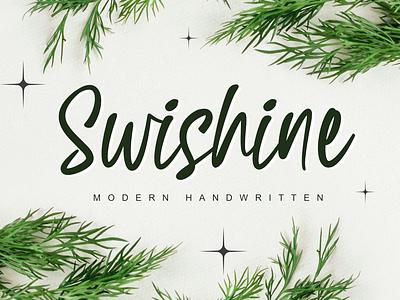 Swishine app bold animation logo illustration branding newfont typography design handmade font