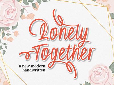 Lonely Together app bold animation logo branding newfont typography design handmade font