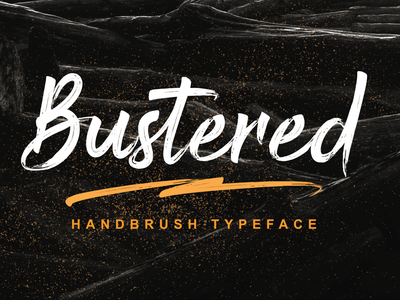 Bustered - Handbrush Typeface covid19 web app bold animation logo branding newfont typography design handmade font