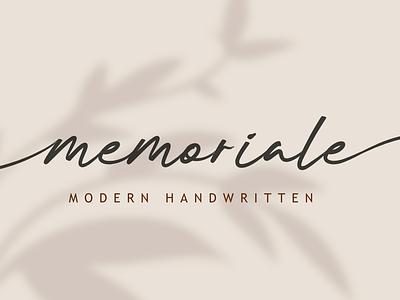 Memoriale bold animation logo branding newfont typography design handmade font