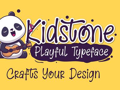 Kidstone - Cute Typeface covid19 web app bold animation logo branding newfont typography design handmade font