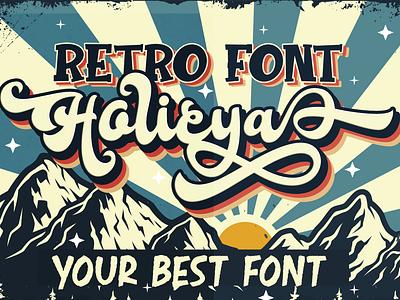 Holicya web app bold animation logo branding newfont typography design handmade font