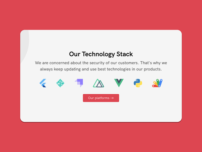 Technology Stack Design technology tech stack vector logo illustration branding app web design ui redesign design website development