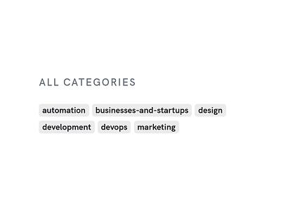 Blog Categories Badges Design category badges categories blog categories blog design blog page single blog badges blog vector logo illustration branding app ui web design redesign design website development