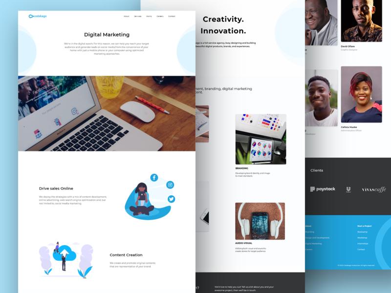 Codekago Website Redesign redesign user experience designer illustration user experience design