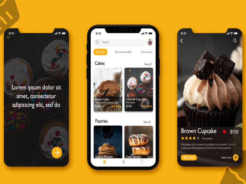 Cake And Pastries UI
