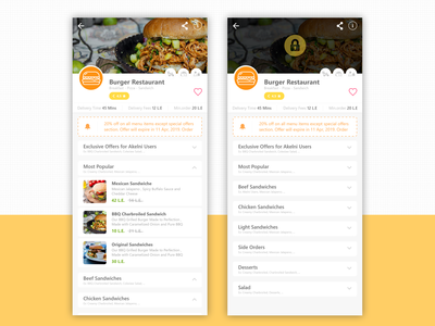 Restaurant Menu Details (Open&Close)