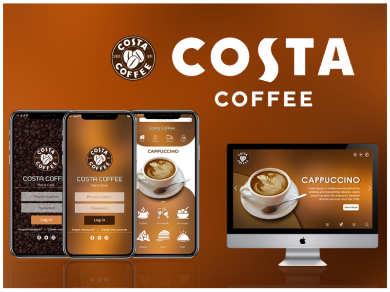 Costa Coffee Ui ui photoshop design costacoffee