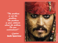 Captian Jack Sparrow polygon illustration