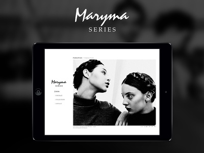 Maryma Series Official Website web design user interface woman web ui design fashion