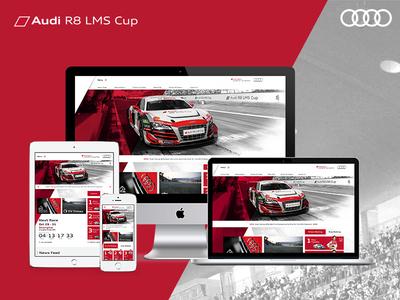 Audi R8 LMS Cup website Redesign website racing audi ui web design web