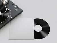 Realistic Vinyl Mockup