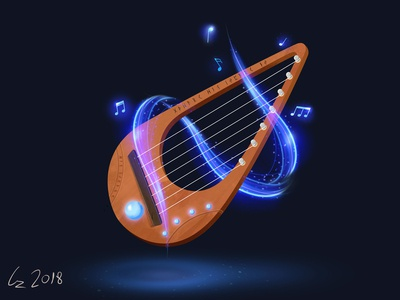 A fantasy Style Lyre