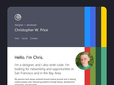 studiochris.us/hello vuejs gridsome css grid css html responsive web design web design