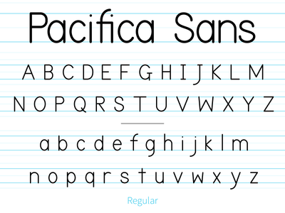 Pacifica Sans adobe illustrator type typeface font