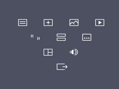 WordPress Post Format Icons wordpress ui icons adobe illustrator