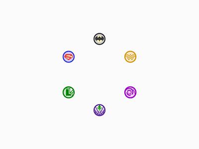 DCUO Mentors dcuo icons adobe illustrator