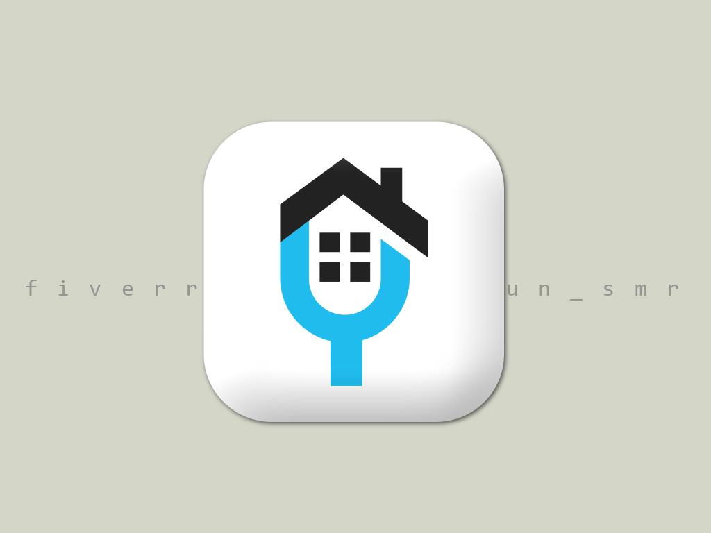 app logo typography type ios vector illustration brand clean mobile lettering icon flat app branding minimalist logo minimal logo design creative app app design app icon