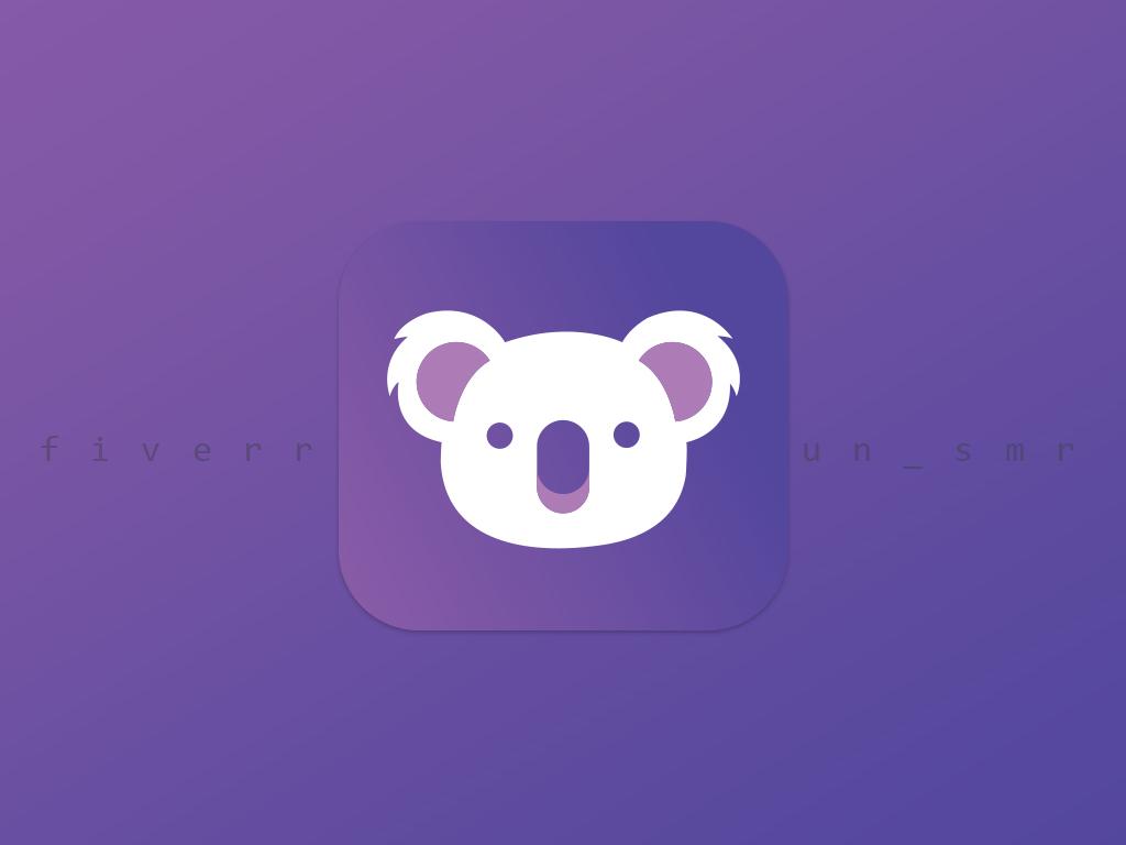 app icon ios blue type brand typography clean mobile vector lettering icon flat app branding minimalist logo minimal design logo creative app app design app icon