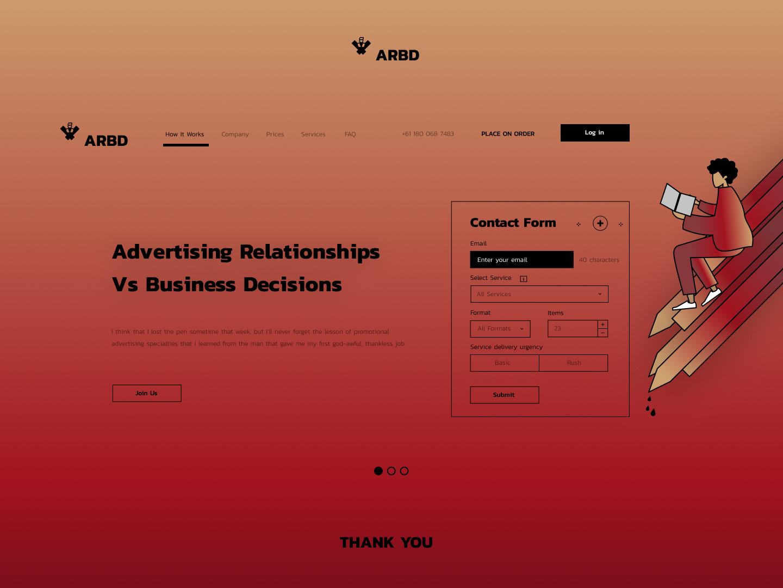 ARBD - O casino animation animated ui landing interface ui web site web design ui landing page interface ui landing interface ui ux home page homepage ux design ui ux design ui design typography interface designer design