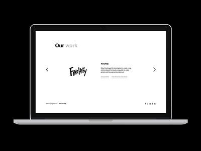 Ten Grand site sneak peek ten grand 10k website sneak peek black and white bw minimal portfolio