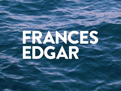 Frances Edgar Branding type blue waves water logo identity branding