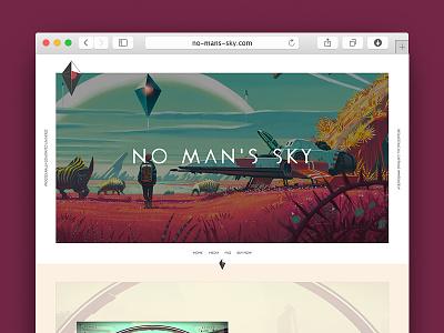 No Man's Sky Concept — Home design home ux ui web website video game no mans sky