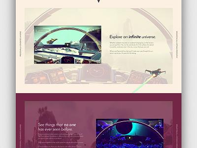 No Man's Sky Concept - Home Continued design home ux ui web website video game no mans sky