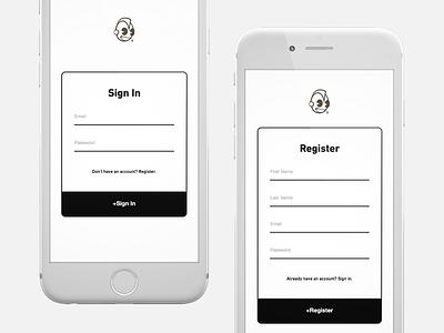 Sign Up / Register sign up ui concept kidrobot register 001 dailyui