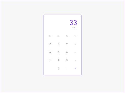 Minimal Calculator calculator ui purple 004 dailyui