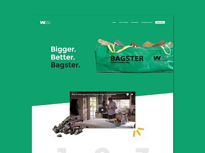 Bagster Concept — Home landing page waste management home portfolio concept ui green bagster