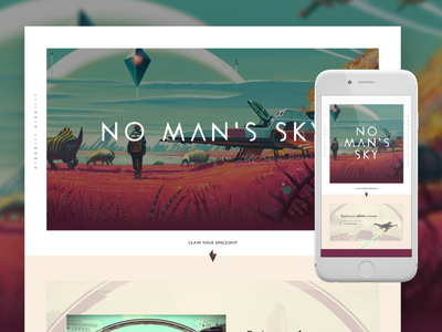No Man's Sky — Landing Page mobile responsive design home ux ui web website video game no mans sky