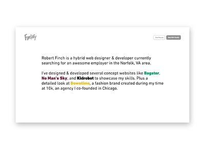 New Portfolio Website ui clean minimal animated responsive website portfolio finchify