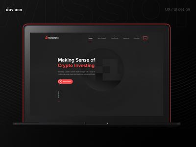 SwissOne   Corporate website corporate website user interface user experience ui design ux design uxui crypto website web interface ui ux design