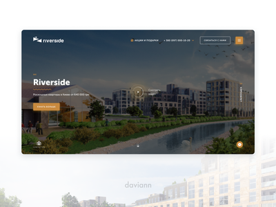 Riverside   UX researches, UI design, Visual style real estate ux research branding logo interaction website web ui ux interface design