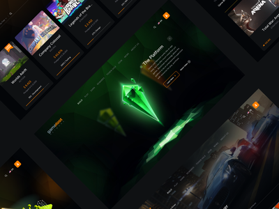 Gameloot   UX researches, UI design gaming gamestore crowdfunding betting interaction website web ui ux interface design