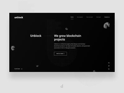 Unblock | Visual style webdesigns website design webdesign blockchain interface branding page crypto interaction web website ux ui design