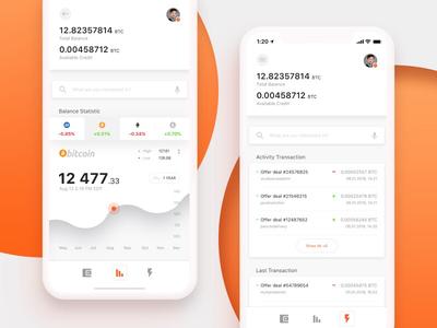 Cryptocurrencies Trading App design exchange trading cryptocurrencies wallet crypto bitcoin mobile ios app