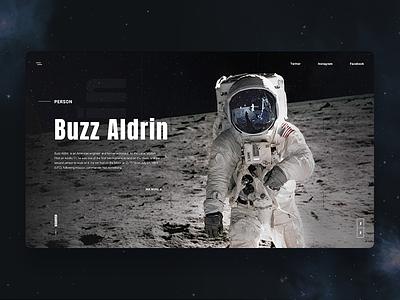 Astronaut - Landing Page design interaction interface landing page luxory minimalism motion ui ux web website moon
