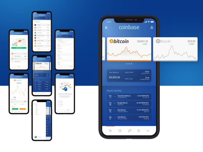 Coinbase Pro App by Lenin Glass on Dribbble