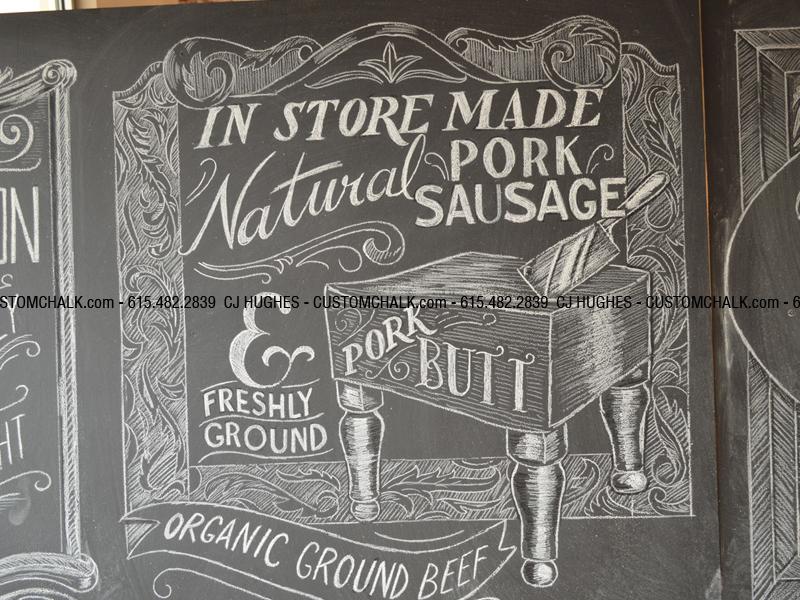 Mrs. Green's Food Markets Chalk Mural by CJ Hughes - Dribbble