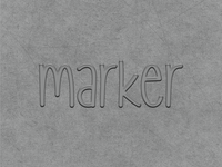 Text effect for Marker