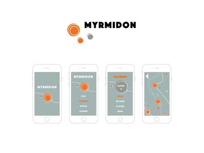 UX/UI Design: Myrmidon ux ui app design