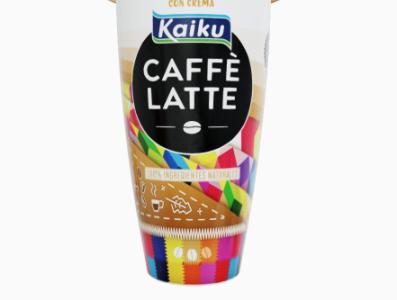 Kaiku caffé latte color ilustration illustrator digital sketch vector photoshop ilustración digitalart illustration
