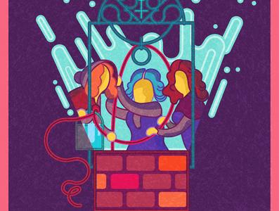 The Brönte sisters fantasy misterio mistery sister sisters novel literature women ilustracion illustration personaje bronte