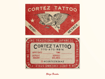 Cortez Tattoo Business Cards