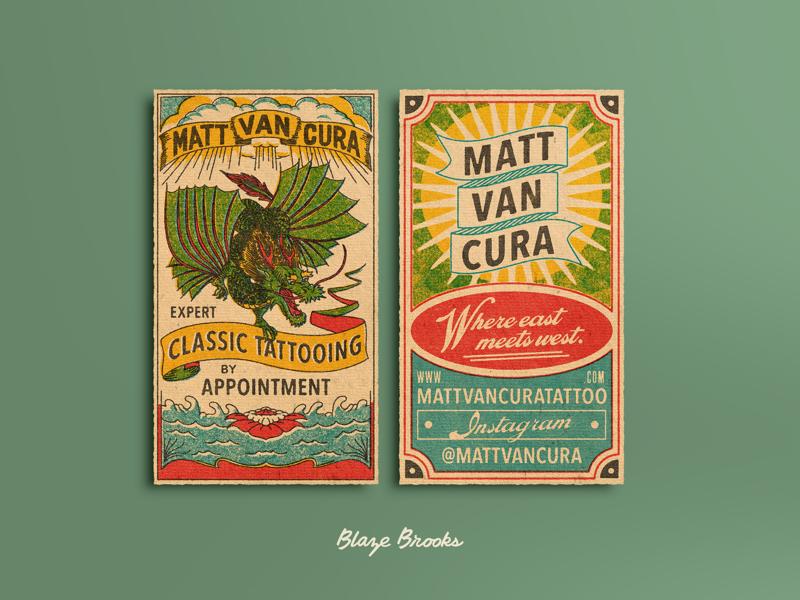 Matt Van Cura business card business cards blaze ben brooks retro vintage