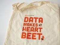 Data Makes My Heart Beet: Tote Bag.