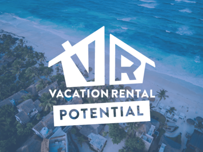 Vacation Rental Potential Logo. custom typography ae vacationrentals expedia homeaway